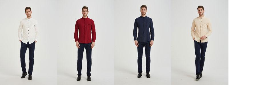 Mandarin shirts for men