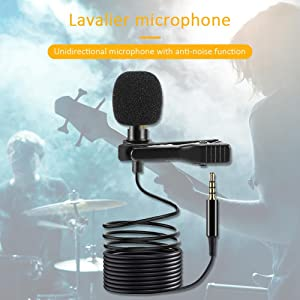 lapel mic for smartphone long wire