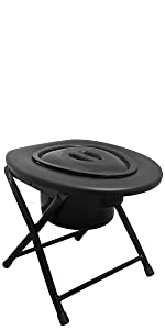 Kunida designs portable camping commode toilet chair outdoor travel hiking porta potty folding stool