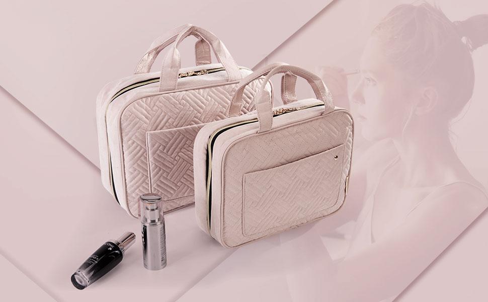 MoGist Trousse de Toilette Sac de Rangement Imperm/éable Sac de Voyage Maquillage Sac /à Main Transparent Rose M