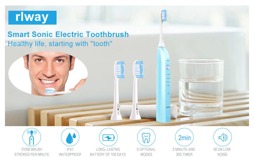 rlway smart sonic electric toothbrush