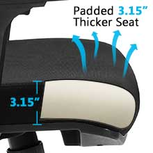 Wide and thick seat cushion