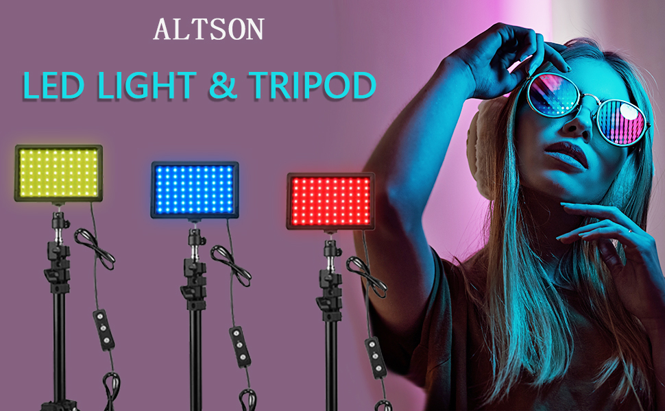 ALTSON LED LIGHT & TRIPOD
