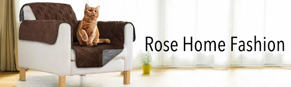 The Rose Home Fashion Sofa Cover protects your furniture from pet hair and stains
