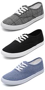 white plaid blue sneakers women