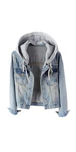 women's hooded jean jacket
