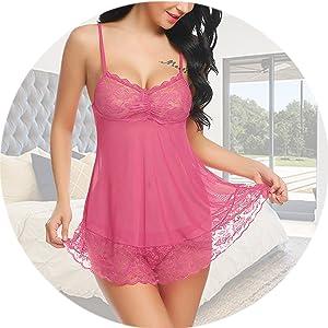 baby doll nightwear for honeymoon lingerie set for women sex