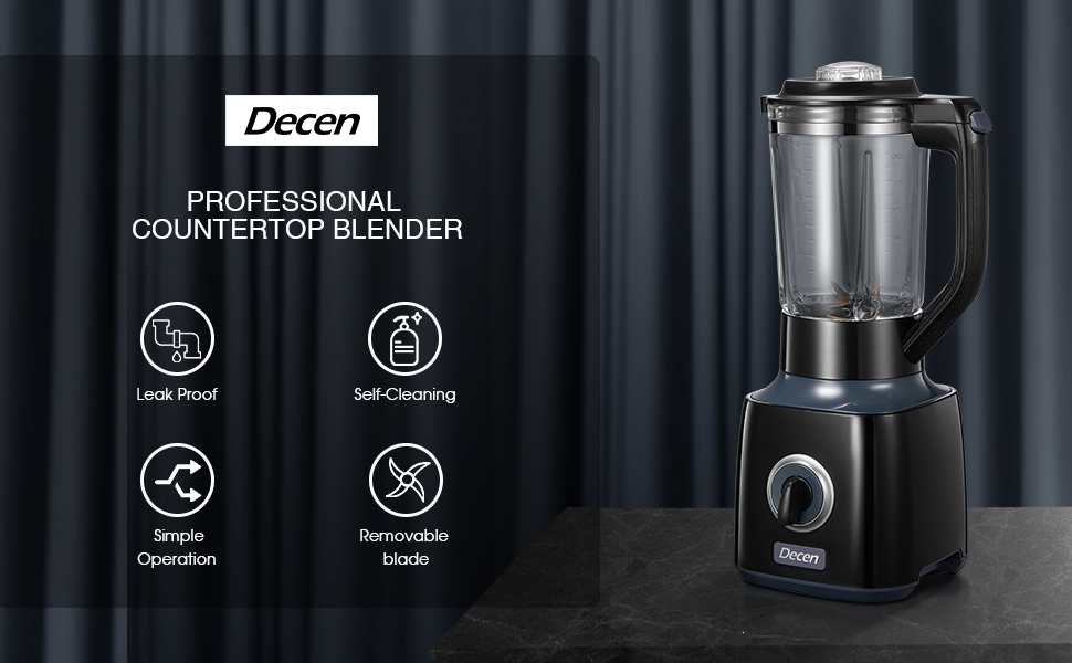 homgeek Blender Smoothie 700W 27,000U//Min Blender mixeur et Milk-shake Professionnel avec 1.5L Bocal en Verre 6 Lames en Acier Inoxydable 3 Vitesses R/églables Faible Bruit