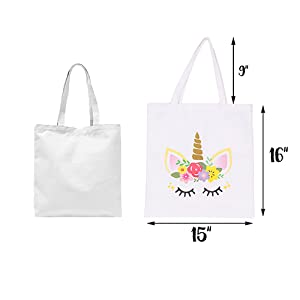 Beautifully Wild Unicorn Tote Bag Canvas Bag