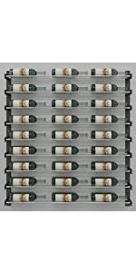 Wine Wall, Evolution wine rack, metal wine rack, modular wine rack, wall mounted wine rack