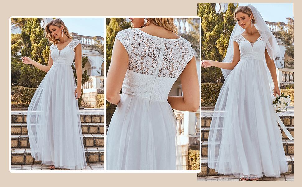 WHITE BRIDAL DRESSES