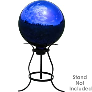 gazing ball shown on stand (stand not included with globe)