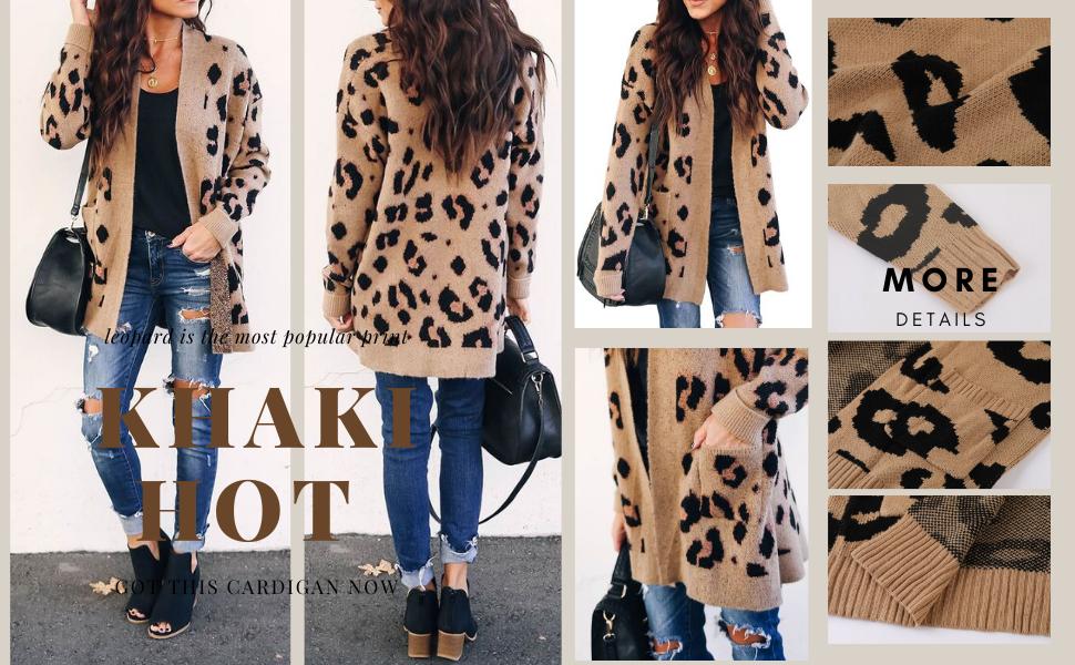 msikiver leopard print cardigan