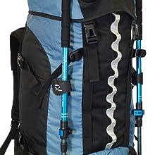 Backpacker-Rucksack mit vielen Fächern