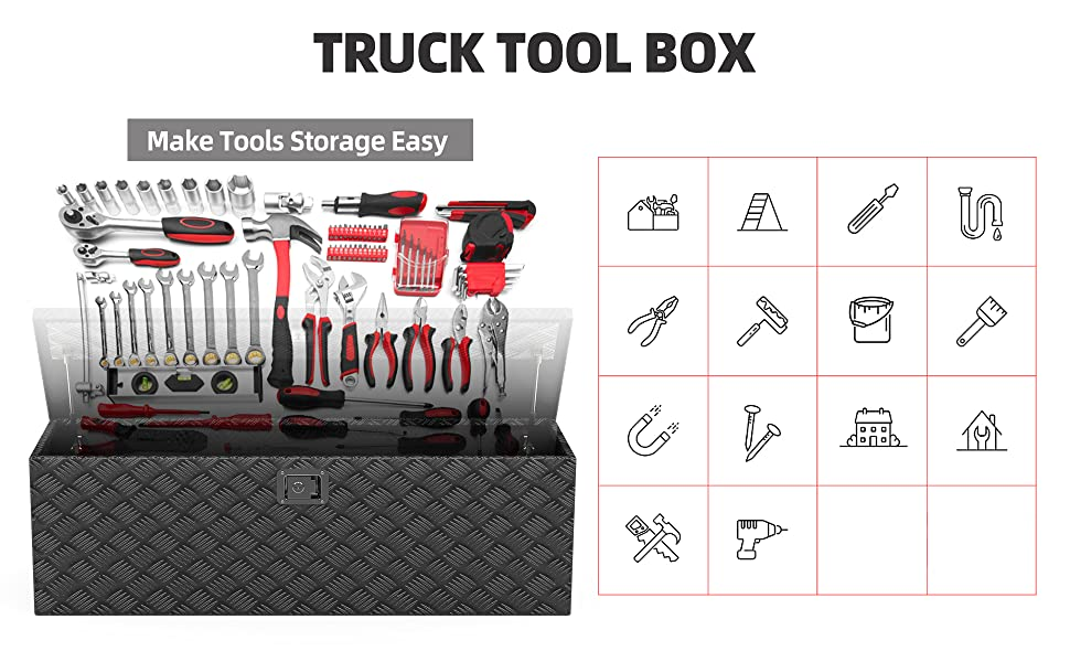 Pickup Truck Bed Storage Toolboxes
