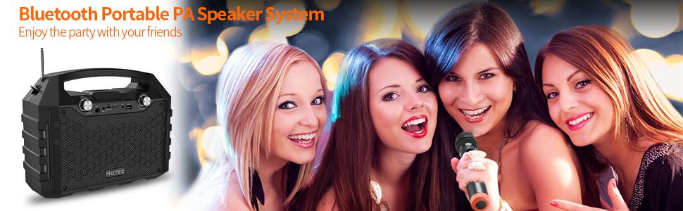 wireless bluetooth portable PA system speaker