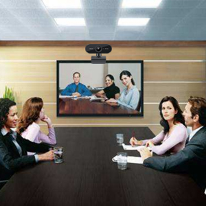 Business meeting pc camera
