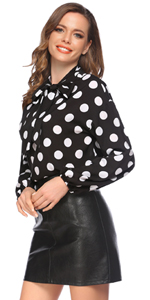Casual Office Work Chiffon Blouse Shirts Tops