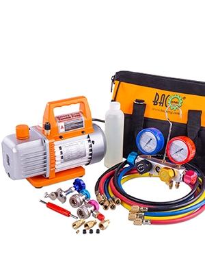 "R410a 5//16/"" F 1//4/"" SAE M Adapter Pump Split System Air Conditioner Manifold LB"