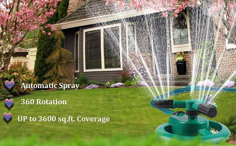3 arm lawn water sprinkler