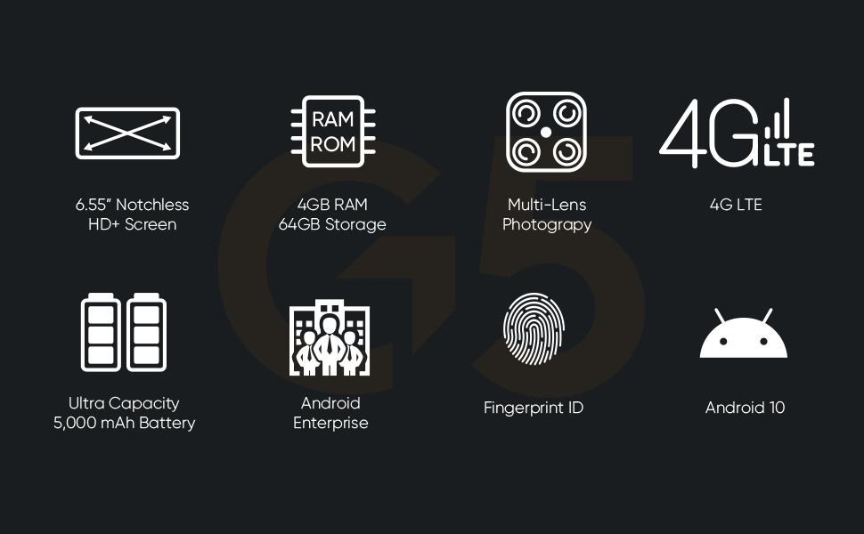 NUU Mobile G5 Key Features