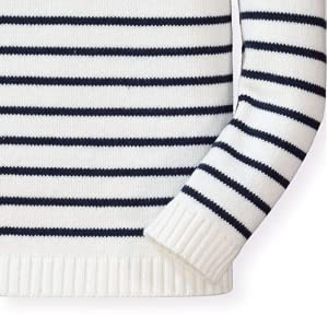 Hope Henry organic cotton girl toddler baby young sweater Breton French stripe red navy 4th July
