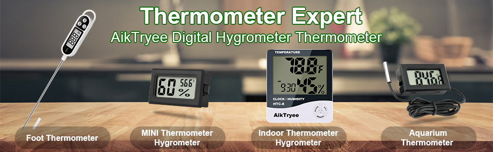 Digital Thermometer Indoor Hygrometer
