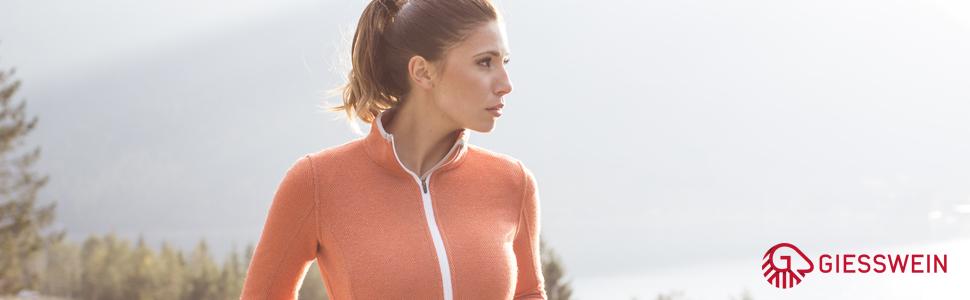 Sina Walk - Chaqueta de lana merino para mujer, transpirable, cálida