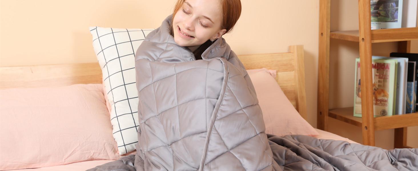 Manta Ponderada para Niños Mejorar Sueño Ansiedad Solitario Manta Pesada
