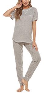Womens pajamas set cotton pj lounge sets womens sleepwear nightwear loungewear set plus size