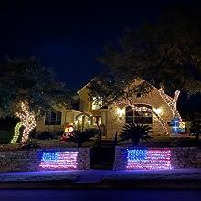 American Flag Net Lights