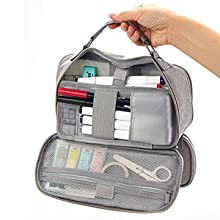 Oyachic Large Capacity Pencil Case Handheld Pen Pouch Stationery Organizer Pencil Holder Bag