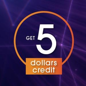 5 Dollar Credit
