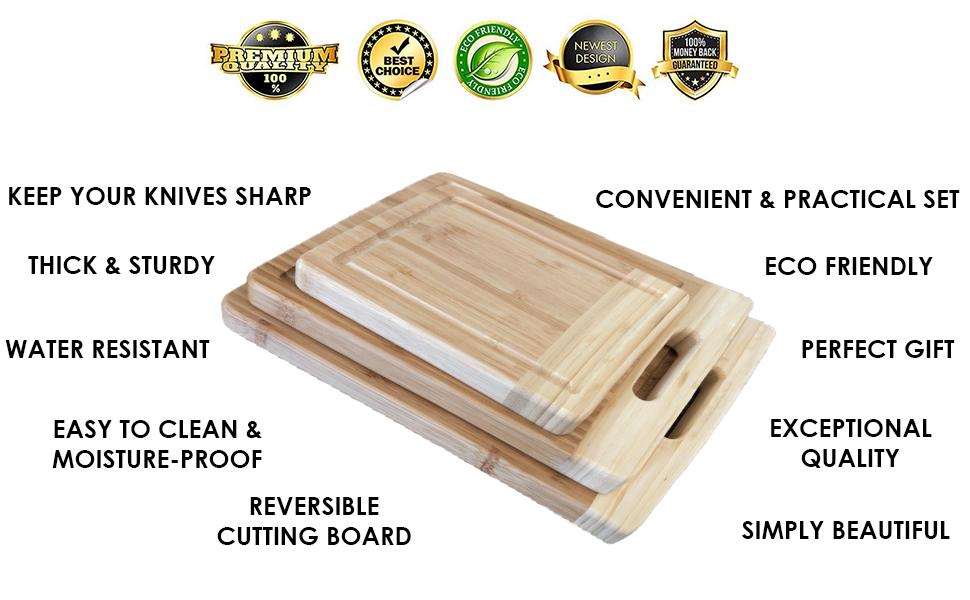 wooden bamboo cutting board