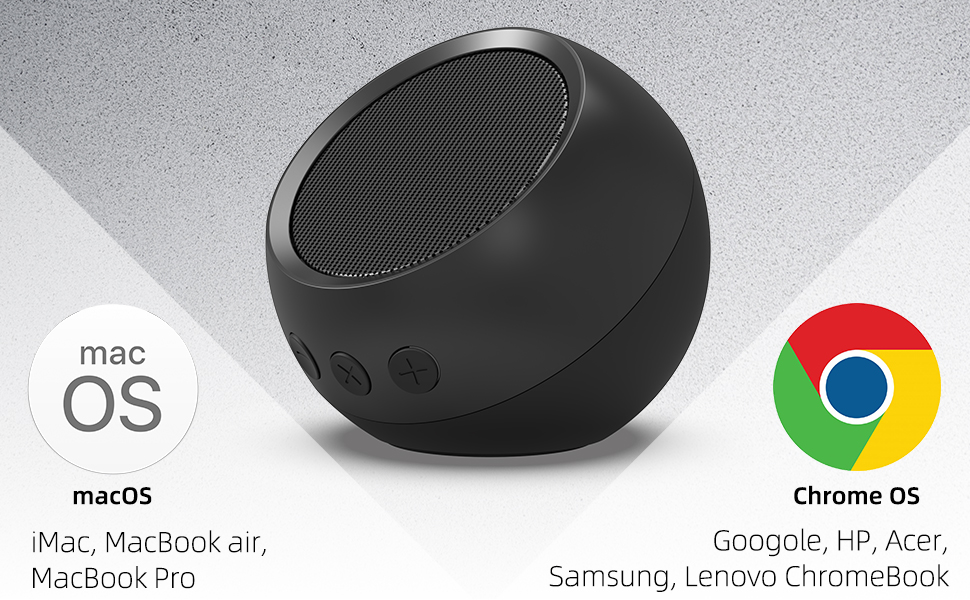 Small Laptop Speaker with Hi-Quality Sound Compatible with Windows Enhanced Bass /& Volume Control macOS Chrome OS System Loud Volume USB Computer Speaker PC Speaker for Desktop Computer
