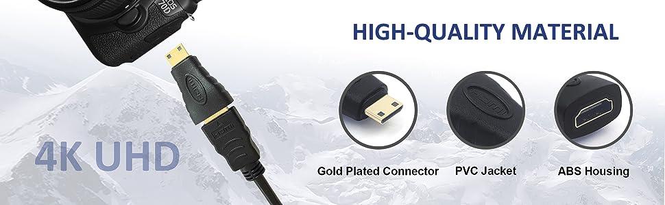 VCE Mini HDMI Male to HDMI Female Adapter