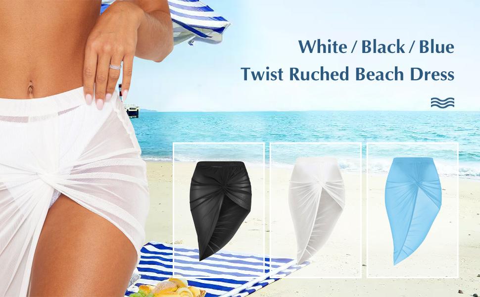 Silkenpop Rouched Beach Skirt