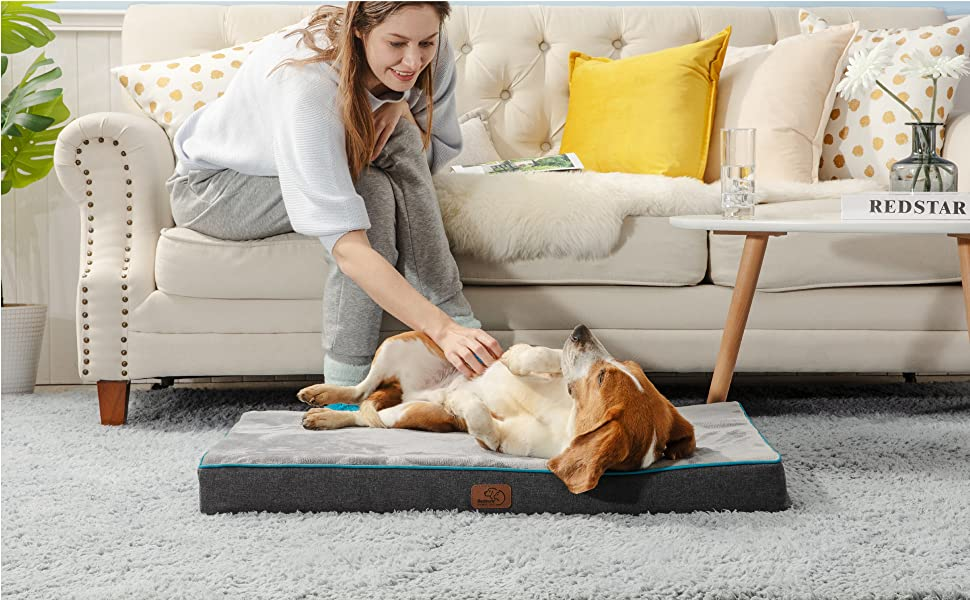 Bedsure Medium Memory Foam Dog Bed9