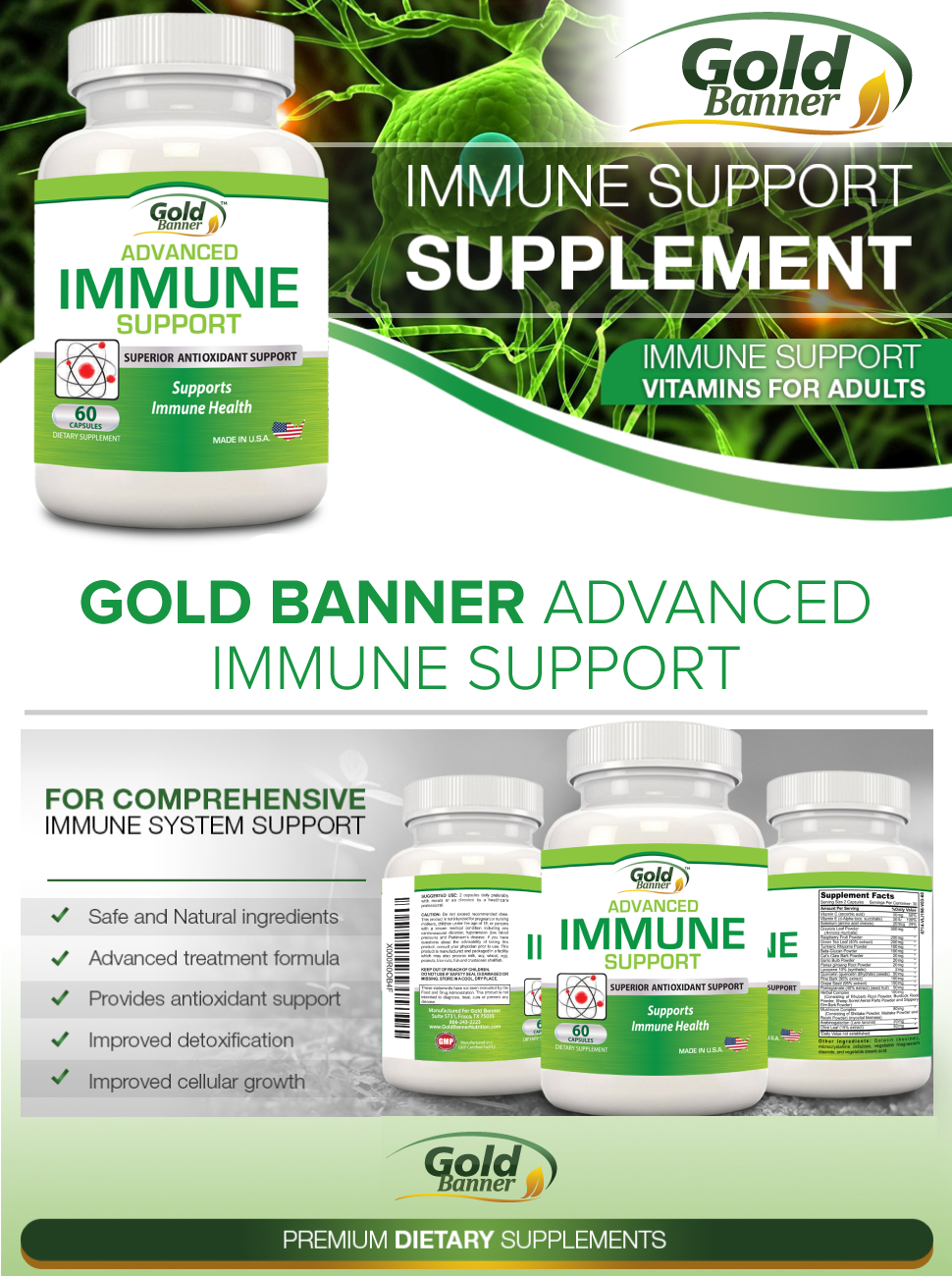 Gold Banner Advanced Immune Support
