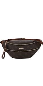 fanny pack waist purse 80s brentano vegan leather logo bb print rfid block