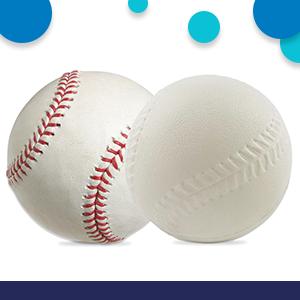 similar size to MLB baseball