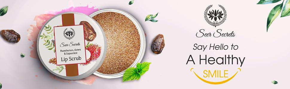 Seer Secrets Rambutan, Dates & Liquorice Lip Scrub