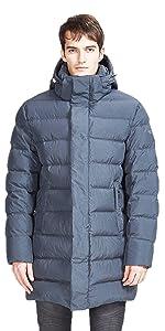 Winter Coat Mid-length Puffer Jacket