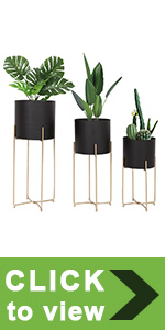 metal planter wiith stand