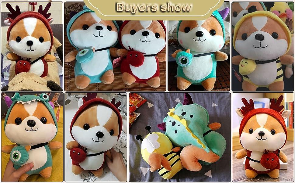 Squirrel Stuffed Animals, Cute Plush Doll Play Toys