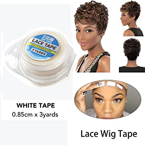 0.85 cm*3 yards lace front wig tape