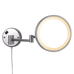 wall magnifying mirror with light for bathroom