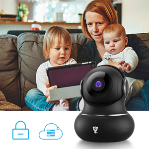 4  [Updated Version] Indoor Home Security Camera, Littlelf 1080p 2.4G WiFi Camera with Smart Motion Tracking Detection, 2-Way Audio, Night Vision and Cloud Service, Compatible with Alexa (Black) 3a02626d 6313 4ae9 81f2 d0c95e417b92