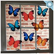 Anti-Collision Butterfly Window Clings Prevent Bird Strikes 8 Large Butterflies – Bird deterrents