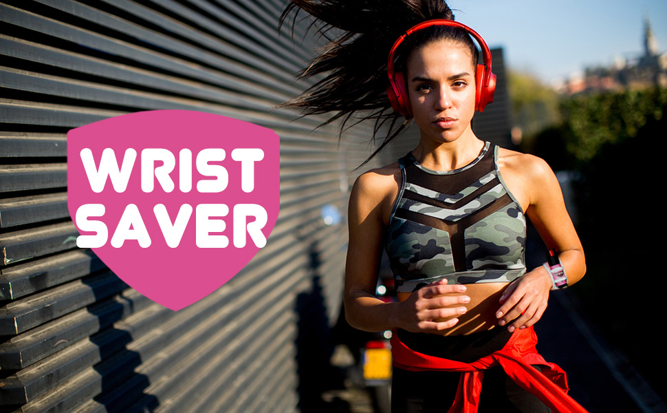 Women Running With The Wrist Saver Pepper Spray Wristband